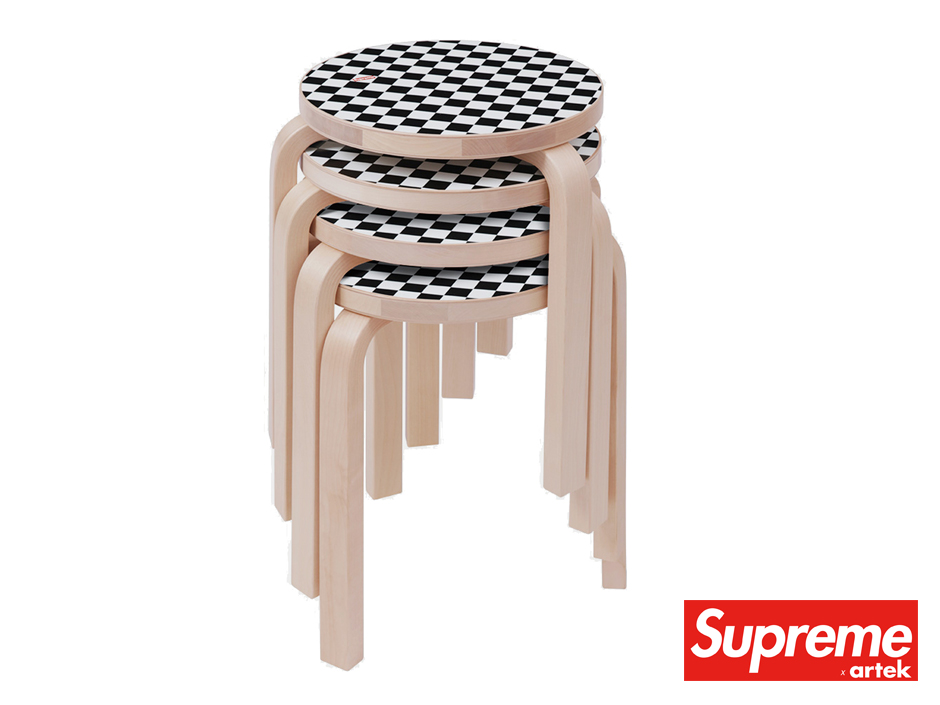 Artek 60 Stool x Supreme Stackable